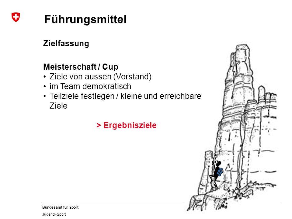 Führungsmittel Zielfassung Meisterschaft / Cup