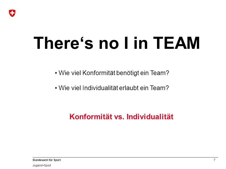 Konformität vs. Individualität