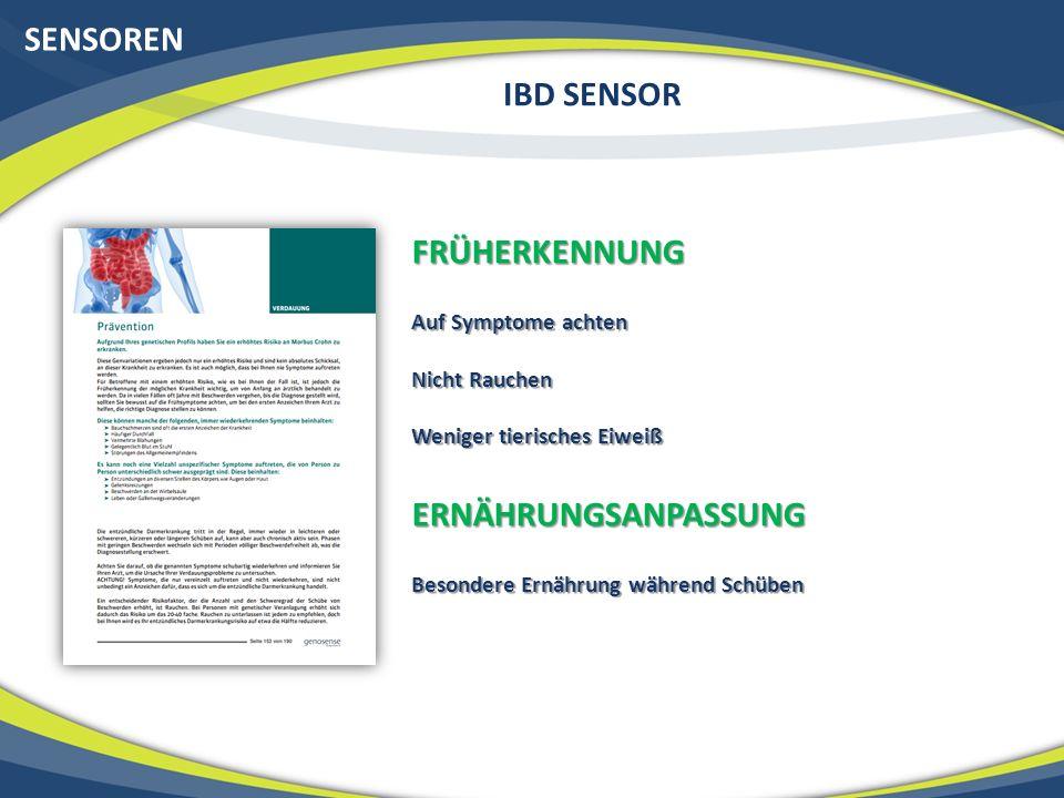 SENSOREN IBD SENSOR FRÜHERKENNUNG ERNÄHRUNGSANPASSUNG
