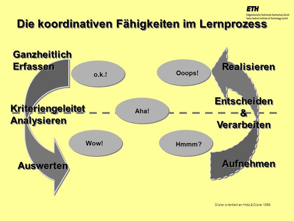 Die koordinativen Fähigkeiten im Lernprozess