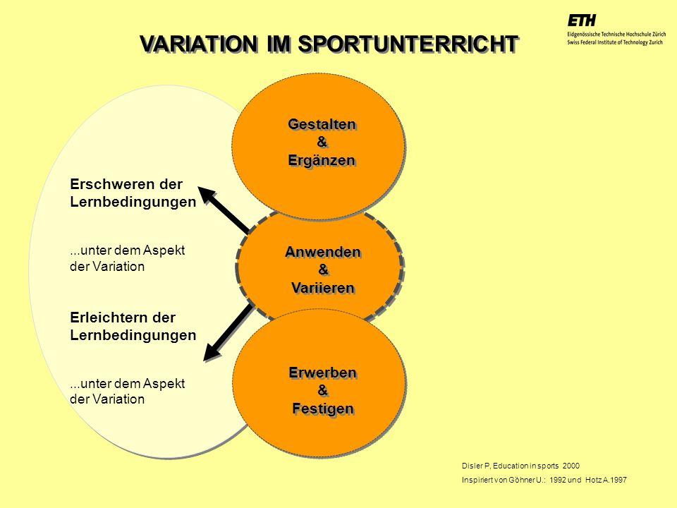 VARIATION IM SPORTUNTERRICHT