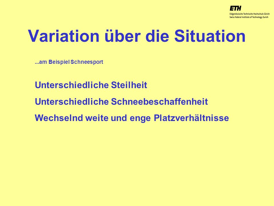 Variation über die Situation