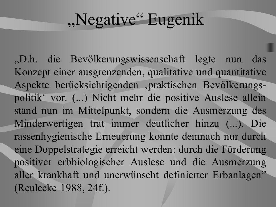 """Negative Eugenik"