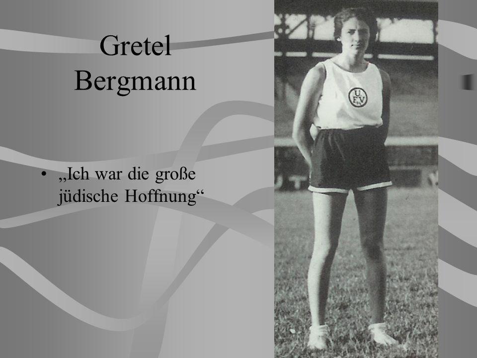 """Gretel Bergmann """"Ich war die große jüdische Hoffnung"""