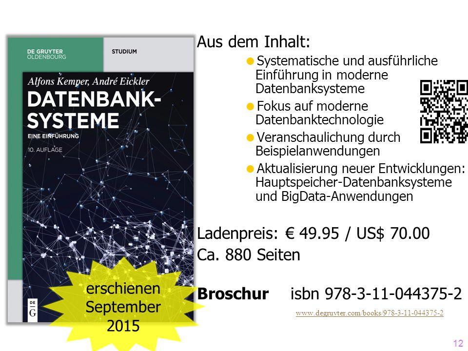 Aus dem Inhalt: Ladenpreis: € 49.95 / US$ 70.00 Ca. 880 Seiten