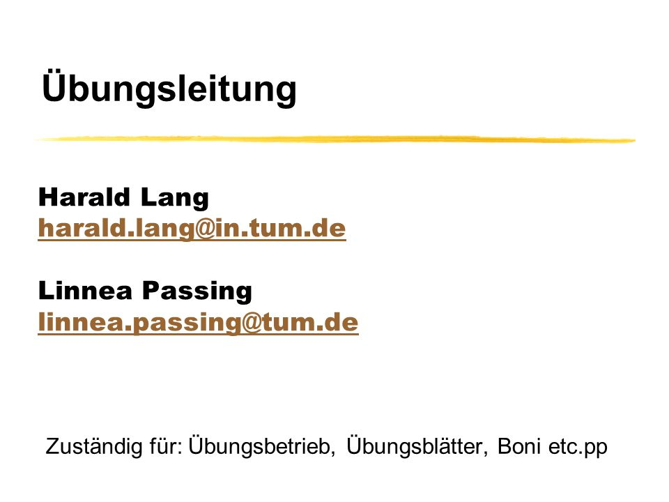 Harald Lang harald.lang@in.tum.de Linnea Passing linnea.passing@tum.de