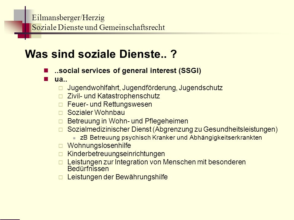 Was sind soziale Dienste..