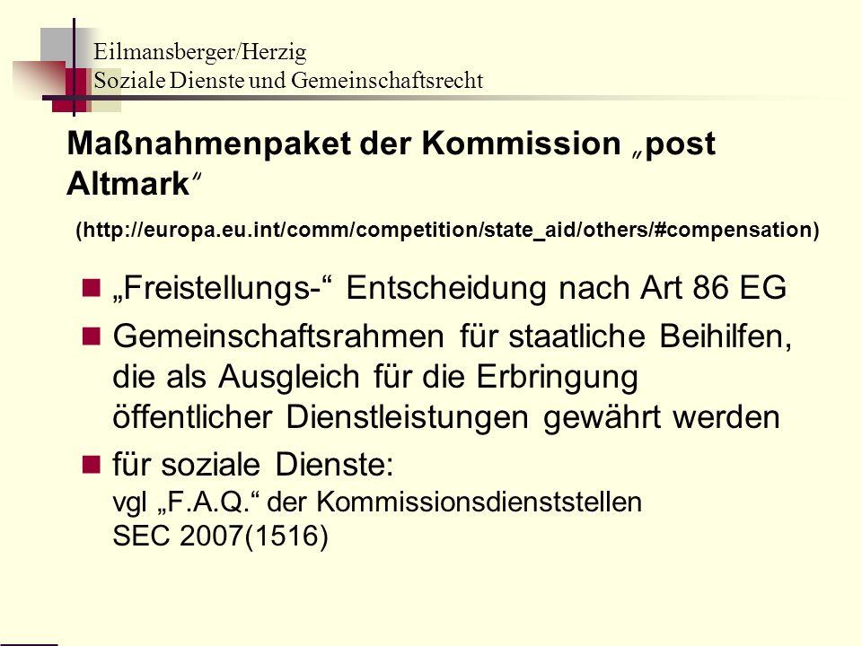 "Maßnahmenpaket der Kommission ""post Altmark (http://europa. eu"