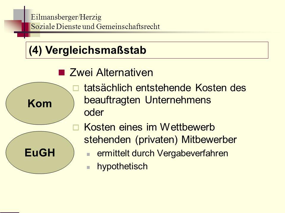 (4) Vergleichsmaßstab Zwei Alternativen Kom EuGH