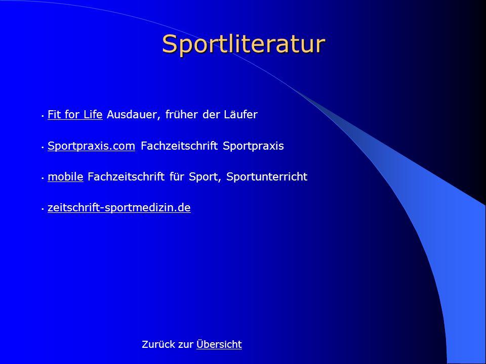 Sportliteratur Zurück zur Übersicht