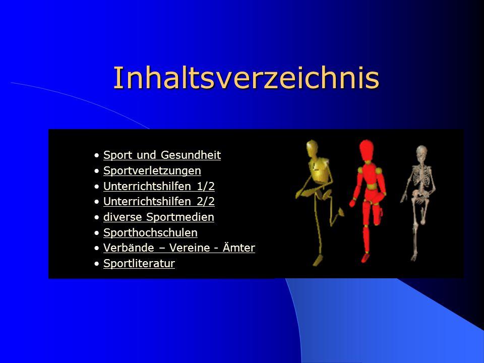 Inhaltsverzeichnis • Sport und Gesundheit • Sportverletzungen
