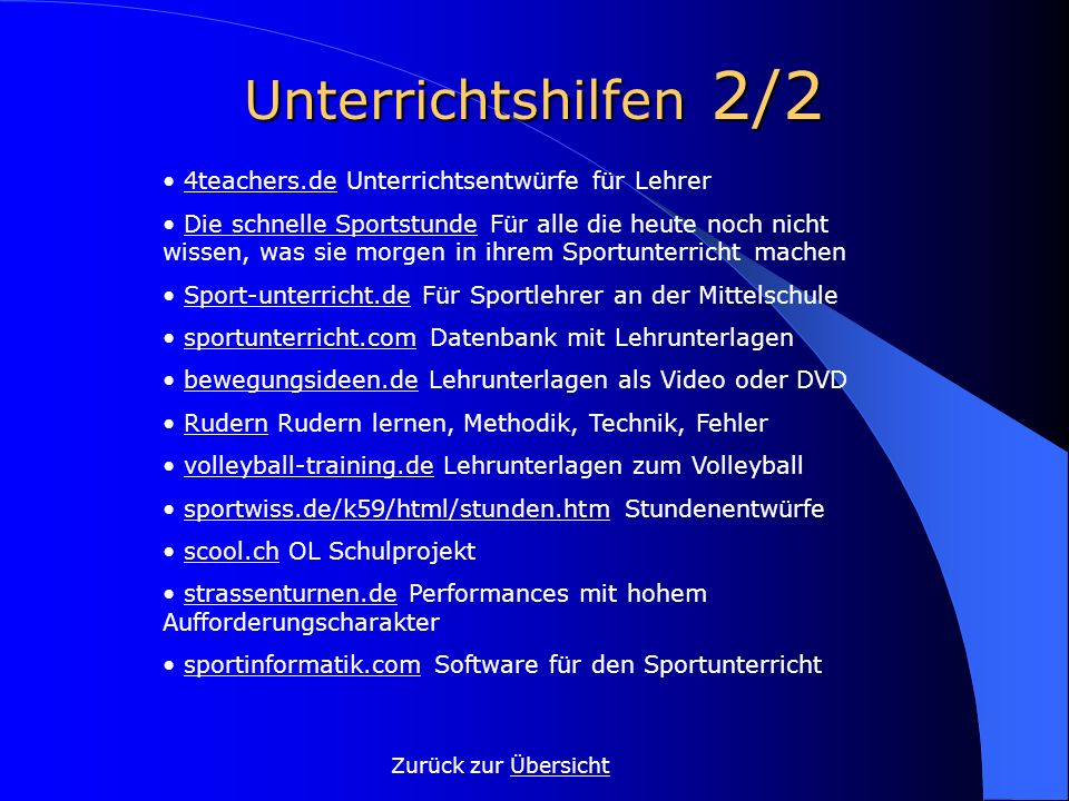Unterrichtshilfen 2/2 • 4teachers.de Unterrichtsentwürfe für Lehrer
