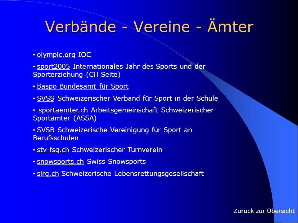 Verbände - Vereine - Ämter