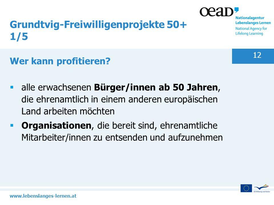 Grundtvig-Freiwilligenprojekte 50+ 1/5