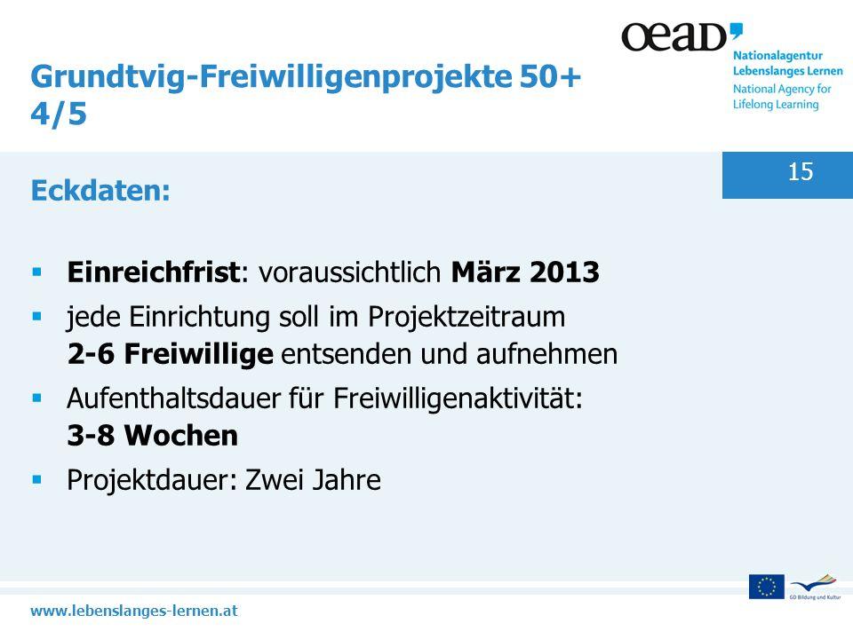 Grundtvig-Freiwilligenprojekte 50+ 4/5