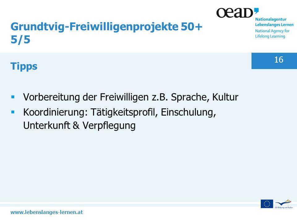 Grundtvig-Freiwilligenprojekte 50+ 5/5