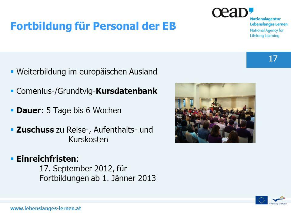 Fortbildung für Personal der EB
