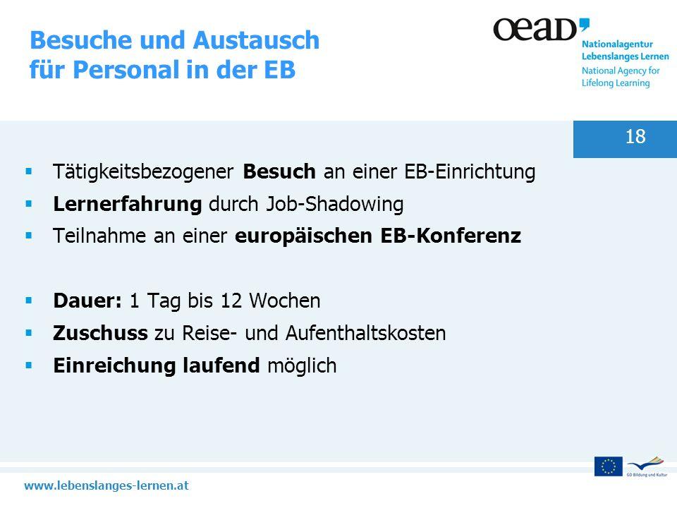 Besuche und Austausch für Personal in der EB