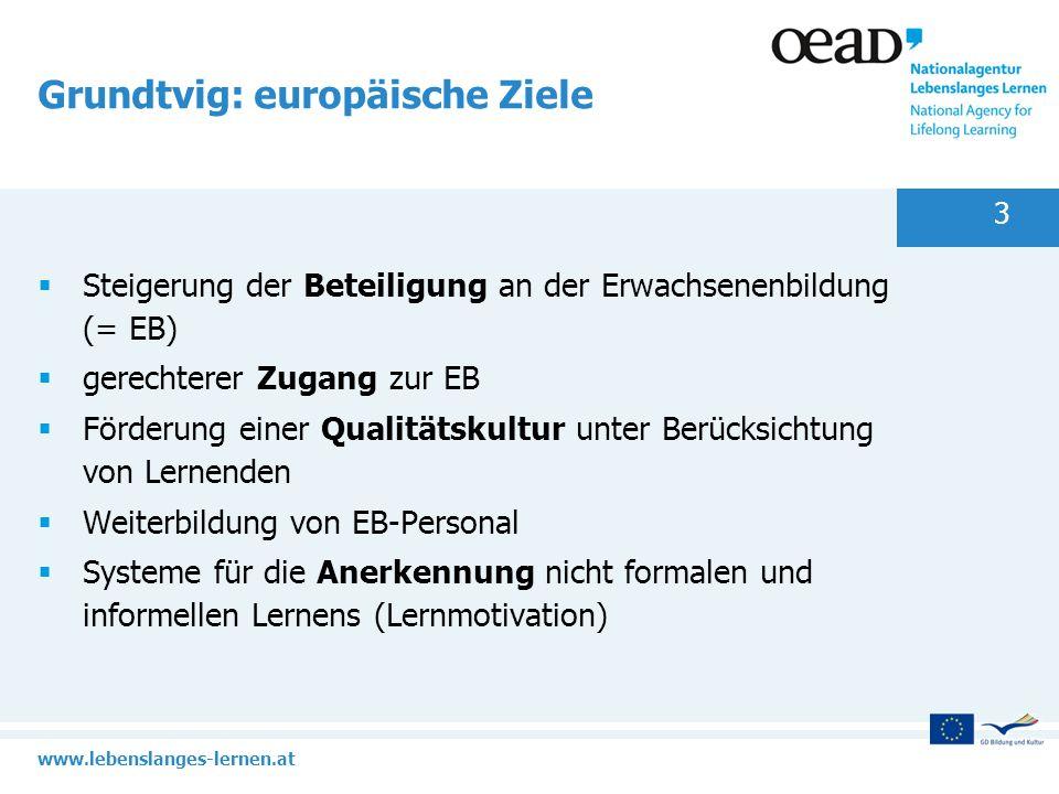 Grundtvig: europäische Ziele