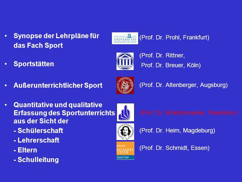 Synopse der Lehrpläne für das Fach Sport Sportstätten
