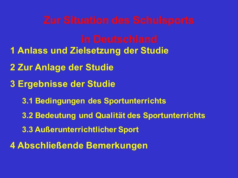 Zur Situation des Schulsports