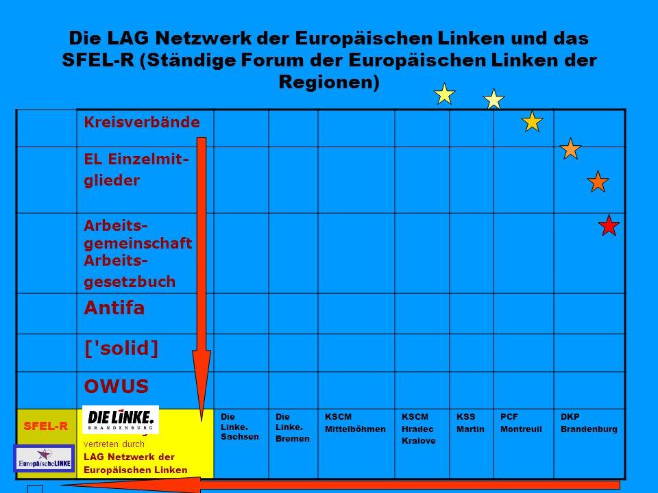 Die LAG Netzwerk der Europäischen Linken und das SFEL-R (Ständige Forum der Europäischen Linken der Regionen)