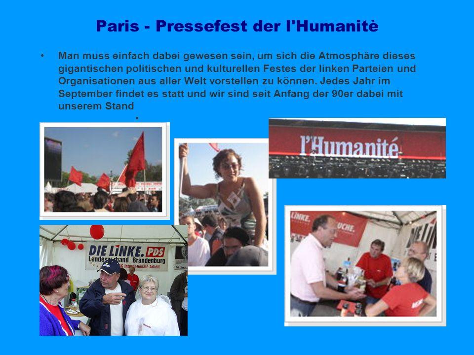 Paris - Pressefest der l Humanitè