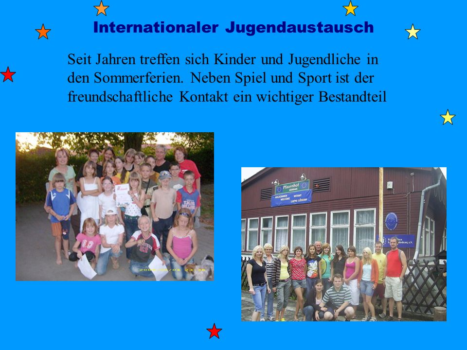 Internationaler Jugendaustausch