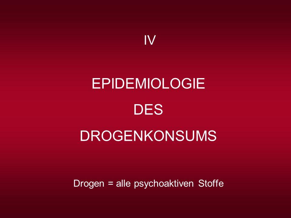 Drogen = alle psychoaktiven Stoffe