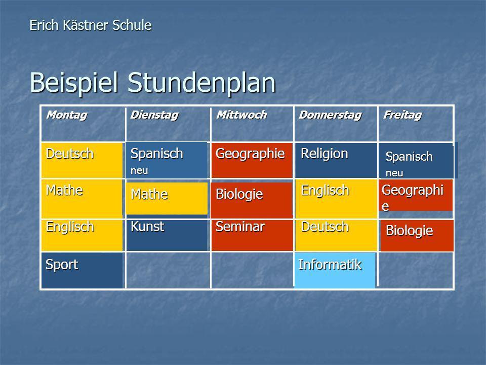 Erich Kästner Schule Beispiel Stundenplan