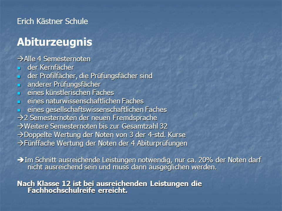 Erich Kästner Schule Abiturzeugnis