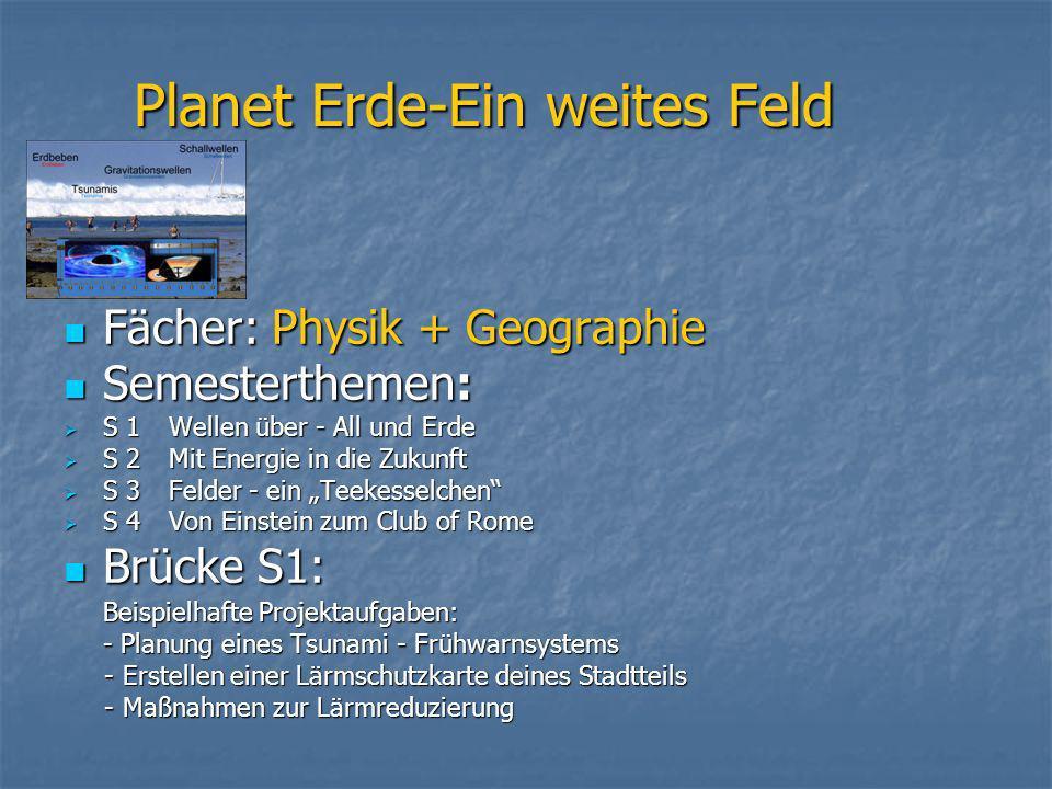 Planet Erde-Ein weites Feld