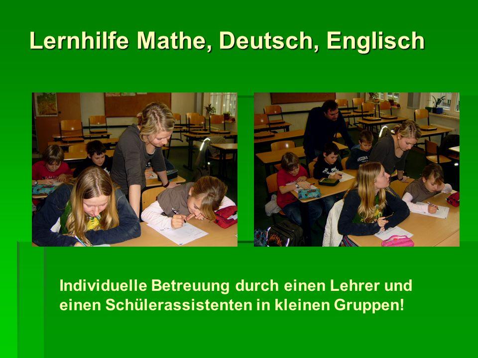 Lernhilfe Mathe, Deutsch, Englisch