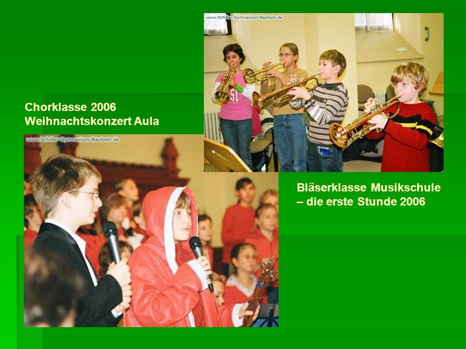 Chorklasse 2006 Weihnachtskonzert Aula