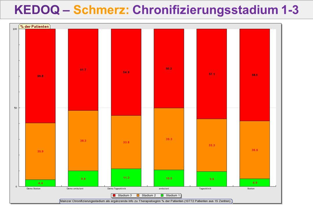 KEDOQ – Schmerz: Chronifizierungsstadium 1-3