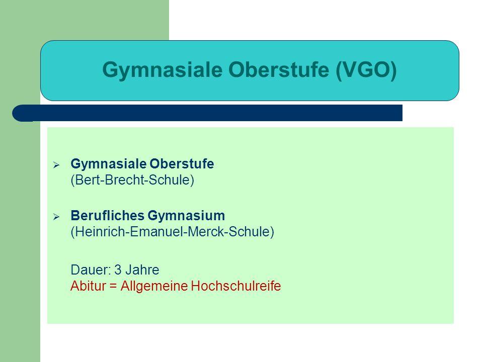 Gymnasiale Oberstufe (VGO)