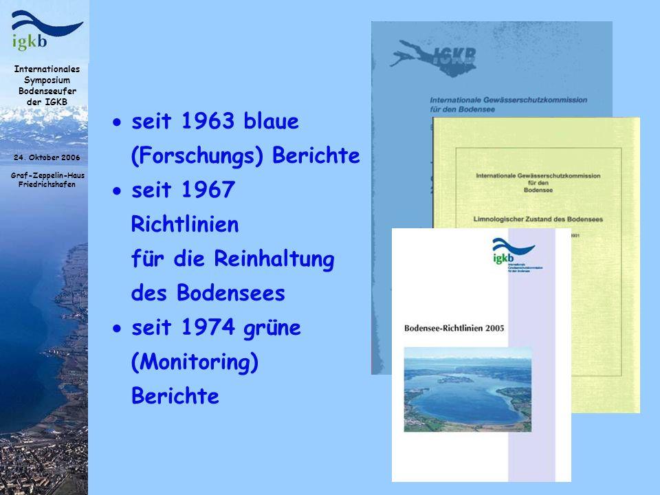 seit 1963 blaue (Forschungs) Berichte