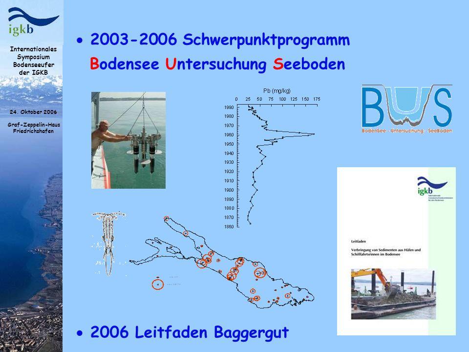 2003-2006 Schwerpunktprogramm Bodensee Untersuchung Seeboden