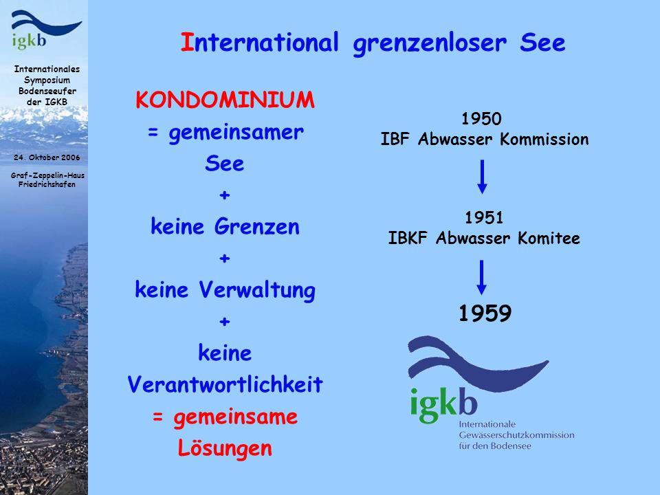 keine Verantwortlichkeit IBF Abwasser Kommission