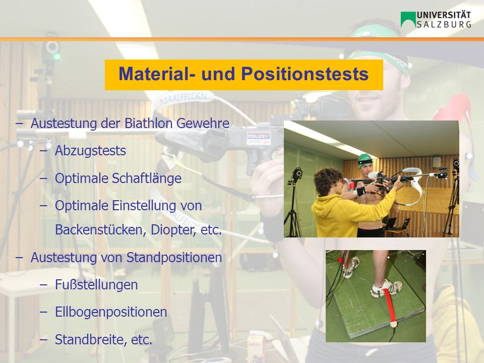 Material- und Positionstests