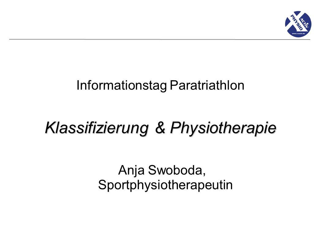 Klassifizierung & Physiotherapie