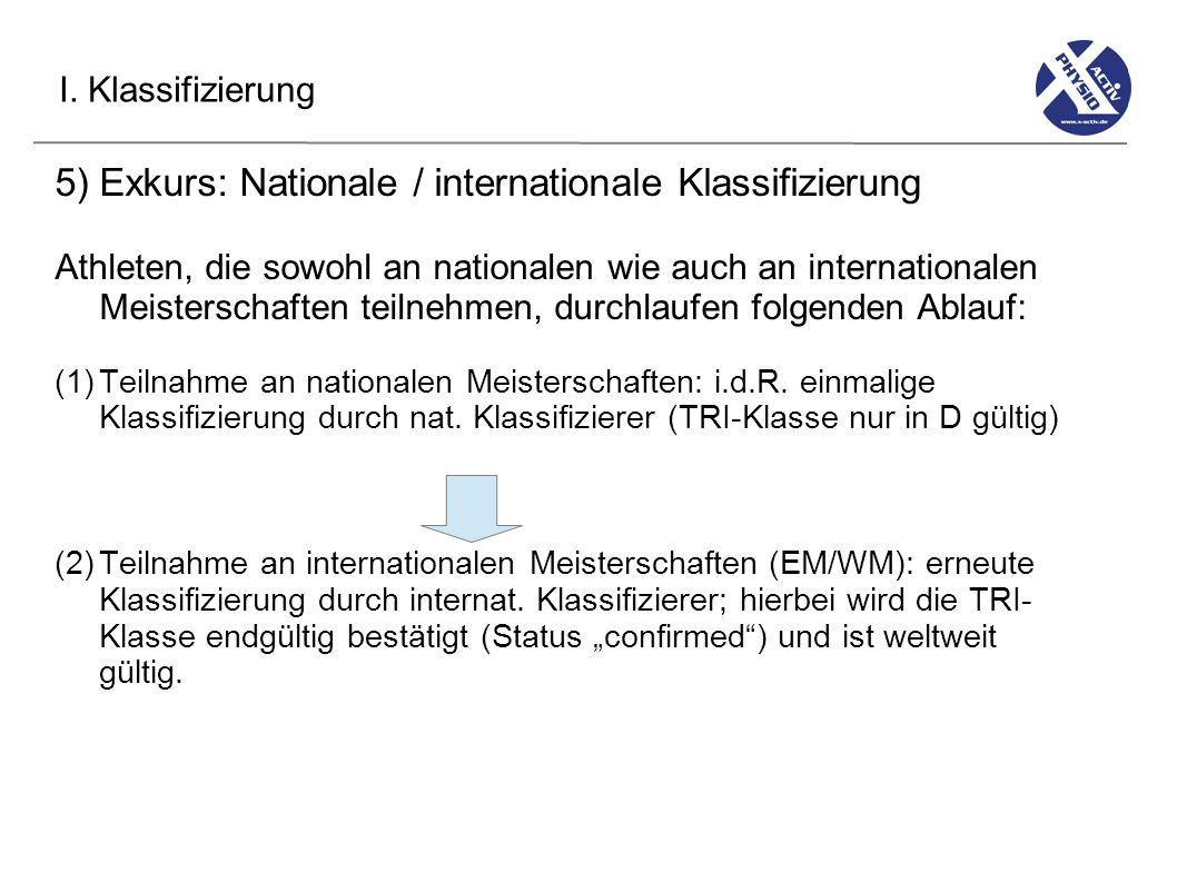 5) Exkurs: Nationale / internationale Klassifizierung