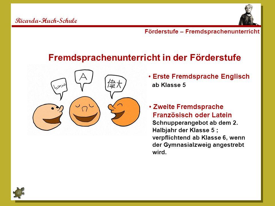 Fremdsprachenunterricht in der Förderstufe