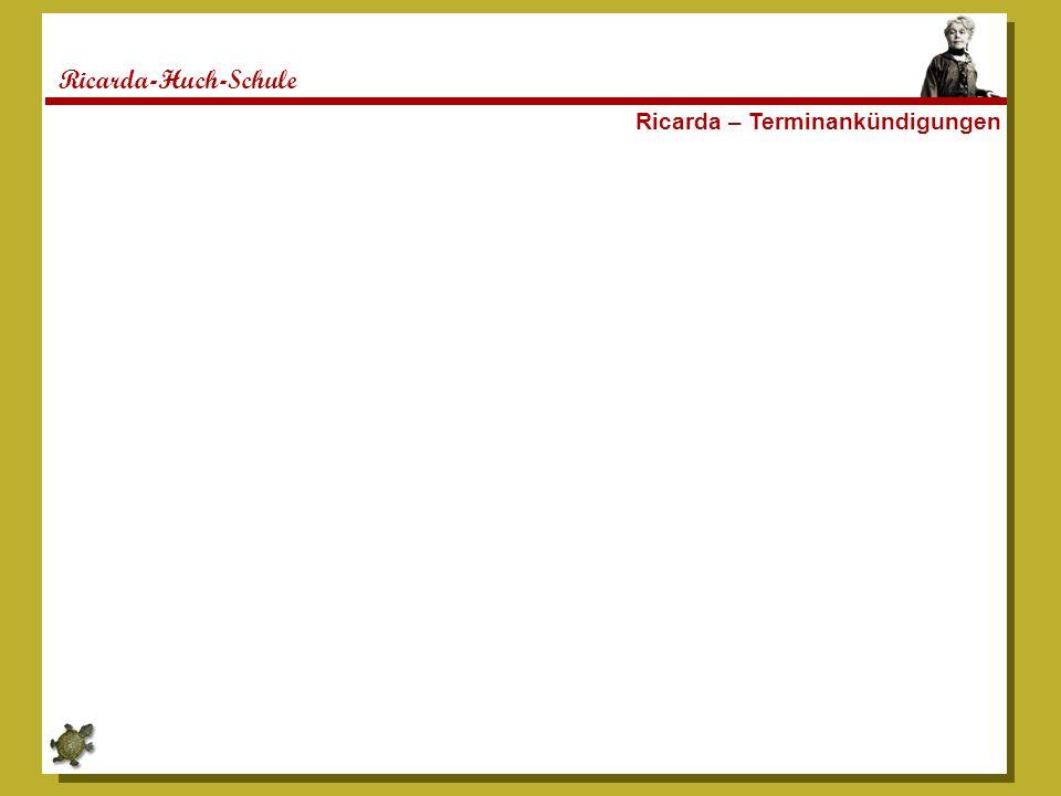 Ricarda-Huch-Schule Ricarda – Terminankündigungen