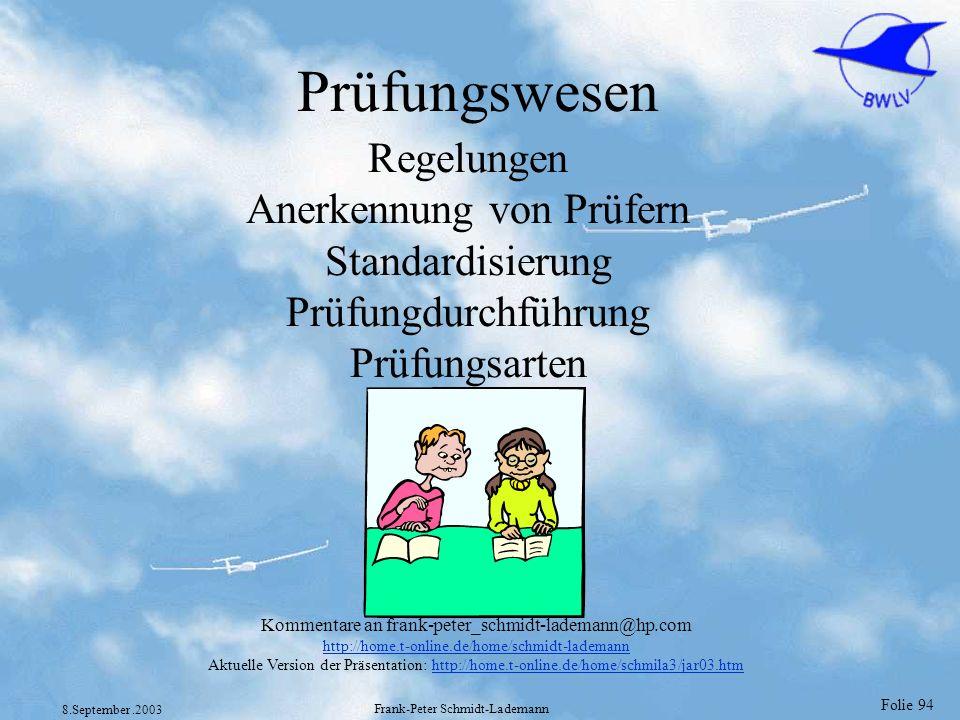 Prüfungswesen Regelungen Anerkennung von Prüfern Standardisierung