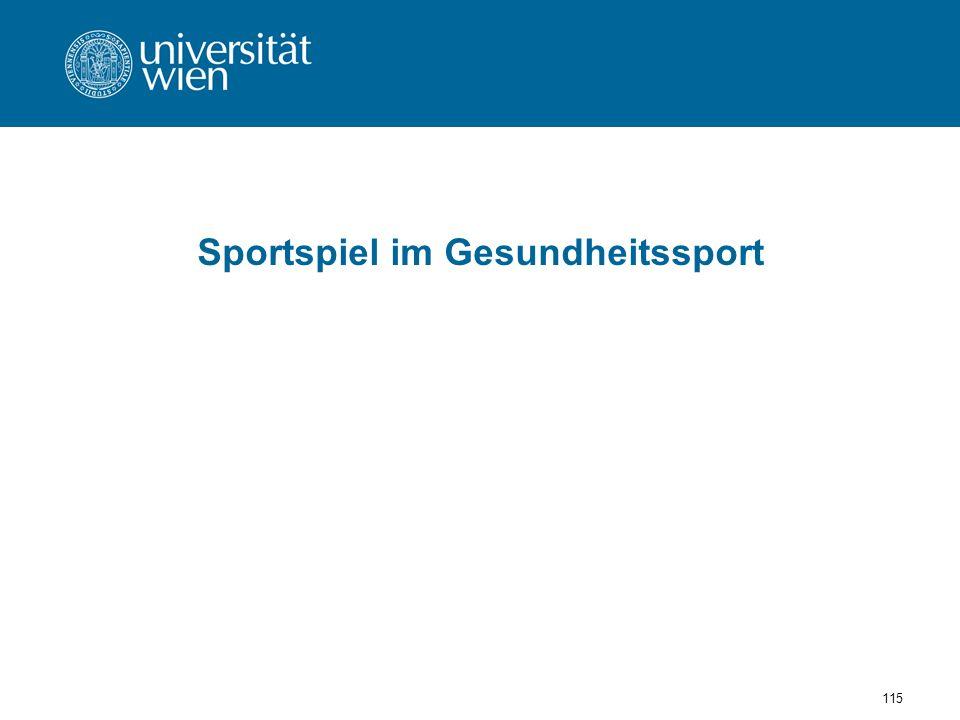Sportspiel im Gesundheitssport