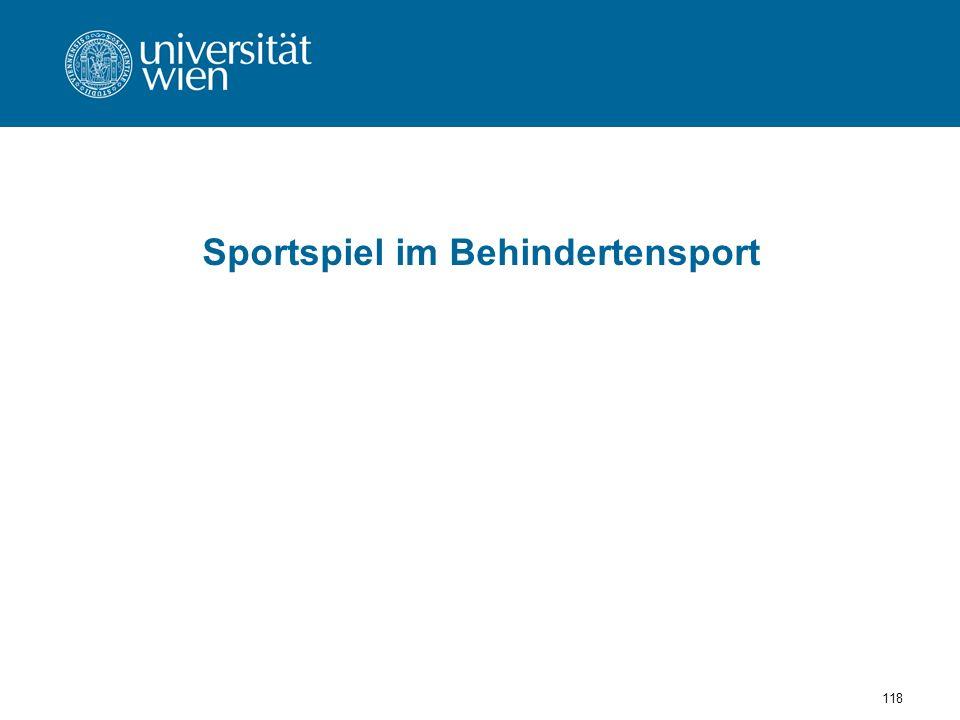 Sportspiel im Behindertensport