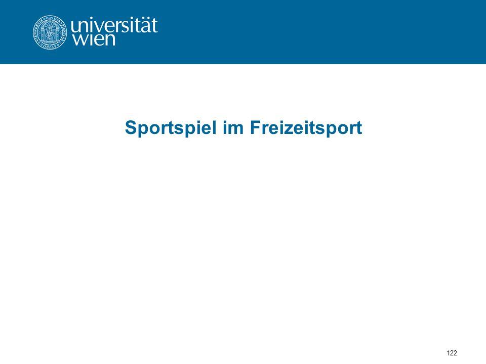 Sportspiel im Freizeitsport