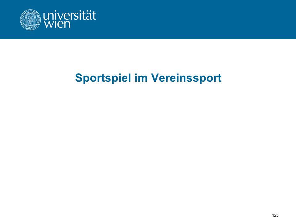 Sportspiel im Vereinssport