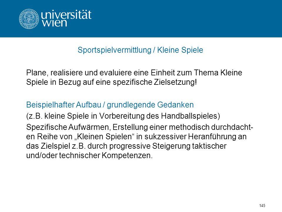 Sportspielvermittlung / Kleine Spiele